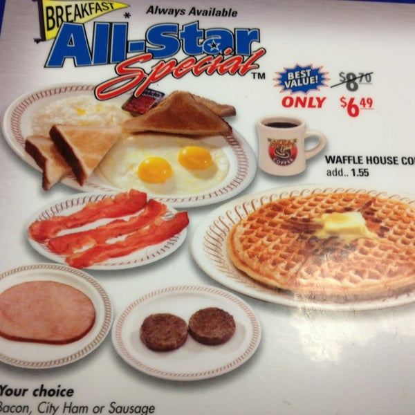 Photo taken at Waffle House by somebodys s. on 2/13/2013