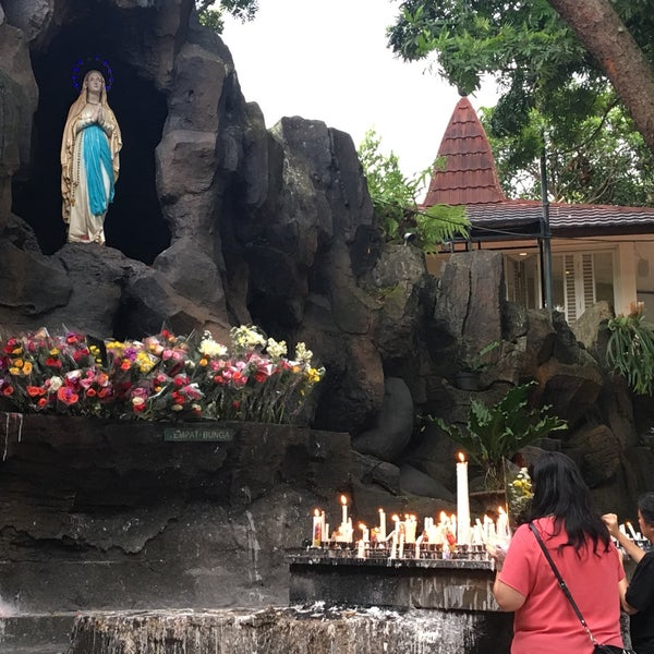 Photo taken at Gua Maria Kerep by Christian Hendra P. on 12/22/2016