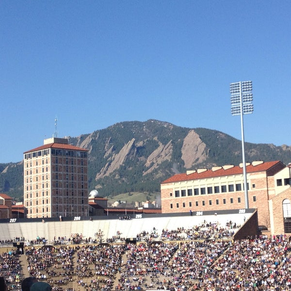 Photo taken at Folsom Field by cynthia x. on 5/10/2013