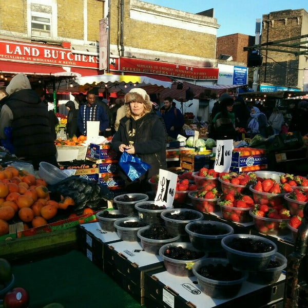 Photo taken at Ridley Road Market by Mel H. on 1/16/2016