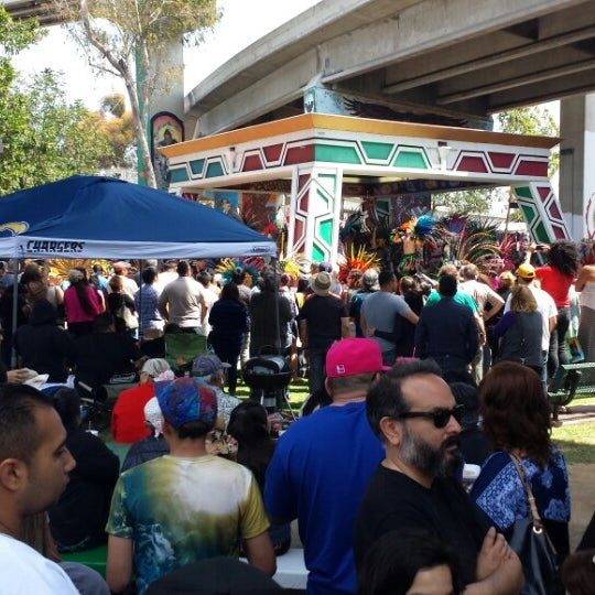 Photo taken at Chicano Park by D C. on 4/19/2014