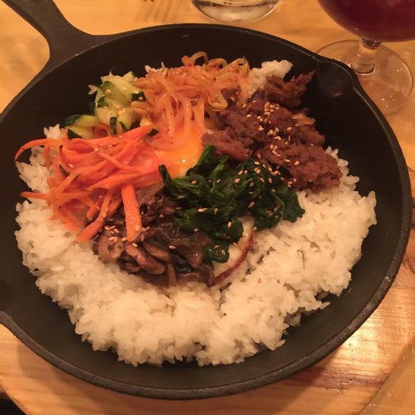 bimbimbap with sizzling rice 😍