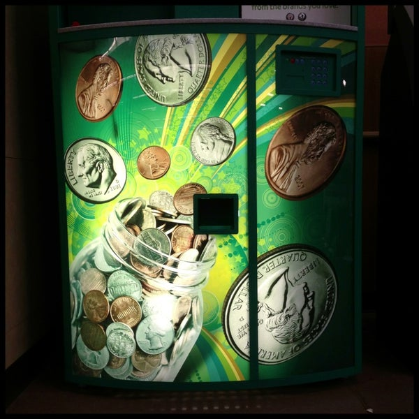 Beware: the Coinstar machine here does not accept $1 trillion platinum coins!