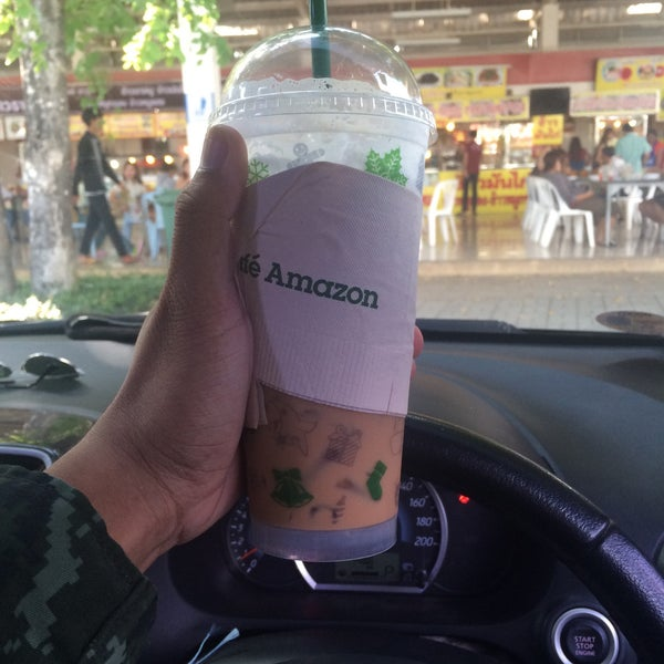 Photo taken at Café Amazon by Kittisak T. on 12/30/2015