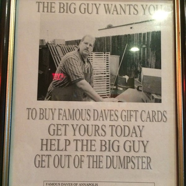 Photos at Famous Dave's (Now Closed) - 12 tips