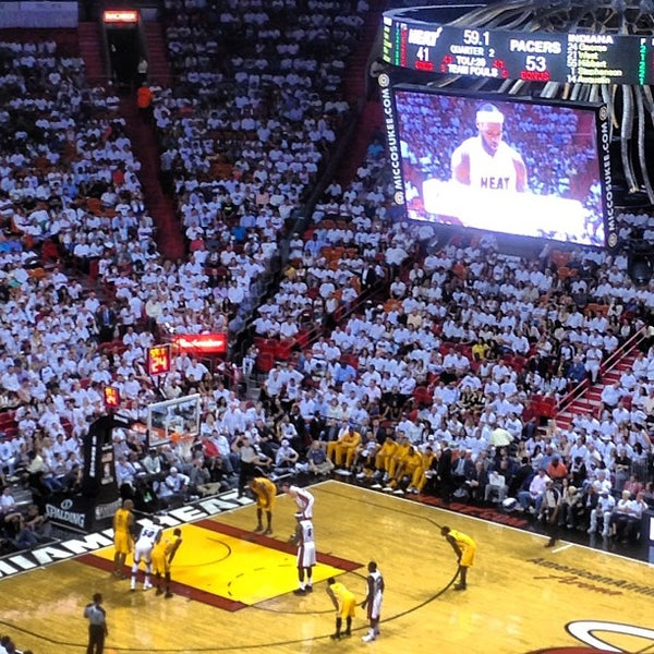 Photo taken at American Airlines Arena by Gustavo C. on 5/25/2013