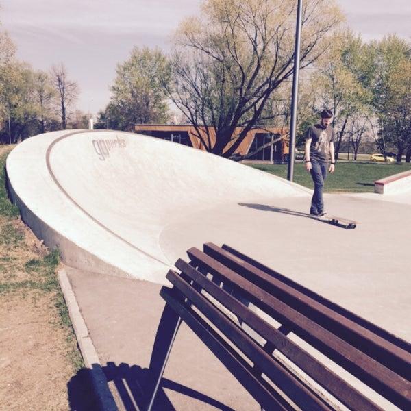 Das Foto wurde bei Скейт-парк «Садовники» von Maria S. am 5/7/2015 aufgenommen