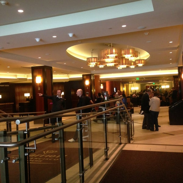 Photo taken at San Francisco Marriott Marquis by Hyeseung H. on 3/26/2013