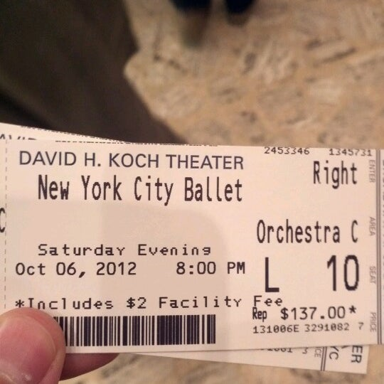 Photo taken at New York City Ballet by manuel on 10/6/2012