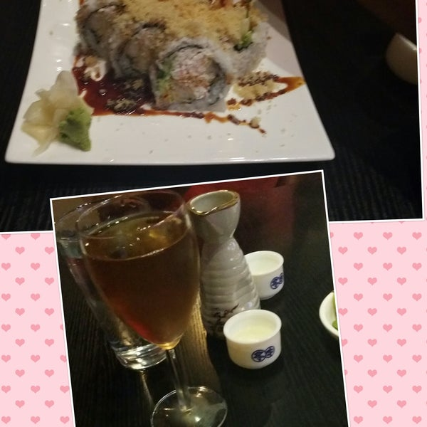 Nice clean atmosphere... The crunchy rolls, spider rolls shoot all the rolls are good.. The plum wine MUST!!
