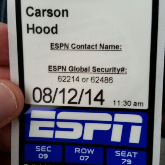 Photo taken at ESPN by Carson H. on 8/12/2014