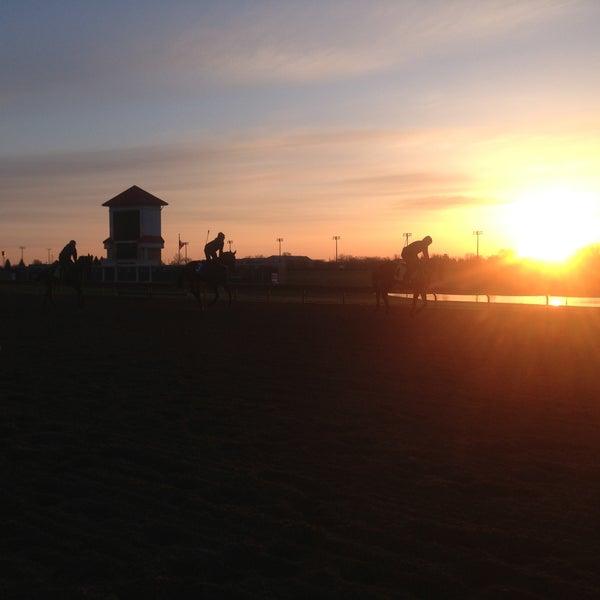 Photo taken at Prairie Meadows by Brandi R. on 4/25/2013