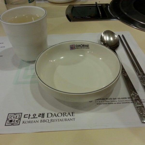 Photo taken at Daorae Korean BBQ Restaurant by KeXuan on 2/3/2014
