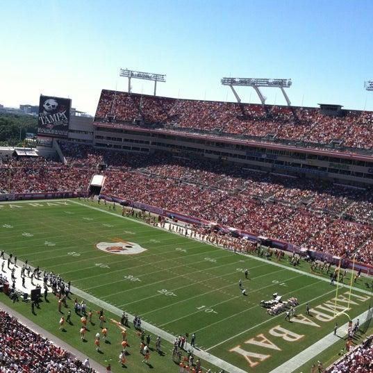 Photo taken at Raymond James Stadium by Elliott S. on 10/21/2012