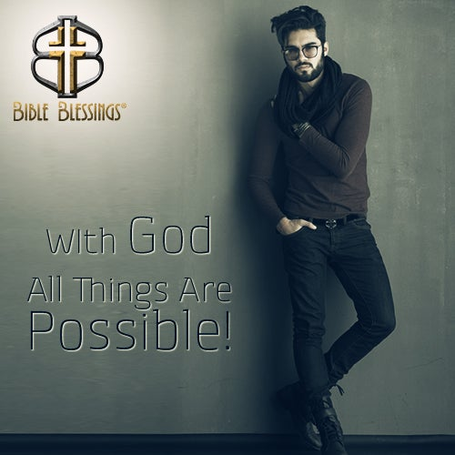 Nothing is impossible when you have faith. Bible Blessings Authentic Bible Belts, designed to be a tangible symbol of your faith. http://ow.ly/ww4mx #biblebelts