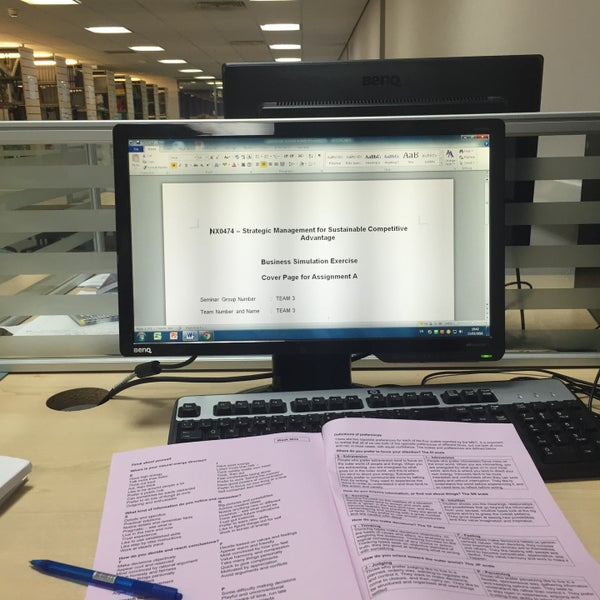 Photo taken at Northumbria University Library by Muhamad Ismail L. on 3/15/2016