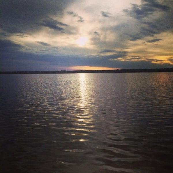 Photo taken at Пляж в Октябрьском by Виктория Г. on 5/18/2014