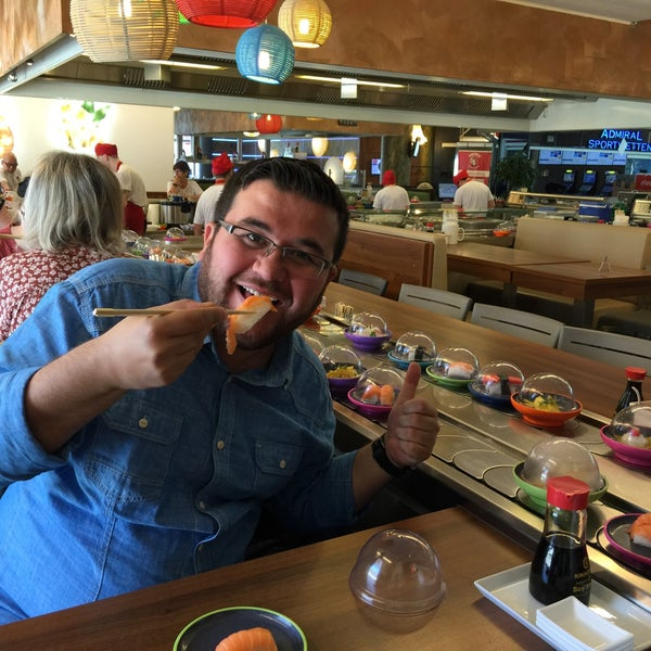 Photo taken at Okiru Running Sushi by İbrahim on 4/13/2016
