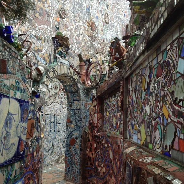 Photo taken at Philadelphia's Magic Gardens by Abbey S. on 8/3/2013