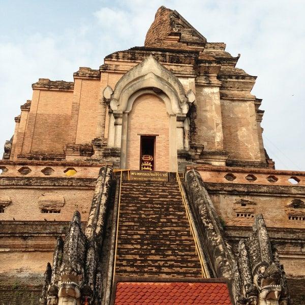 Photo taken at Wat Chedi Luang Varavihara by Book C. on 1/30/2013