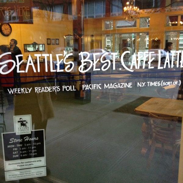 Photo taken at Uptown Espresso by Clarissa G. on 2/16/2013