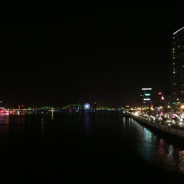 Photo taken at Han River Bridge by KT M. on 3/21/2016