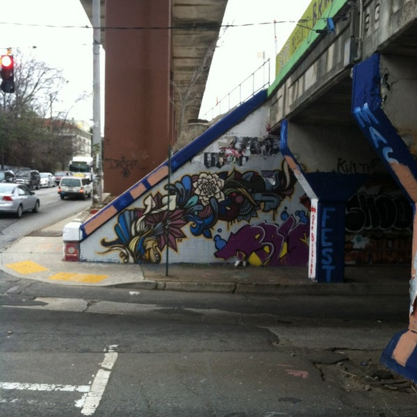 Photo taken at Krog Street Tunnel by Marion Y. on 3/1/2013