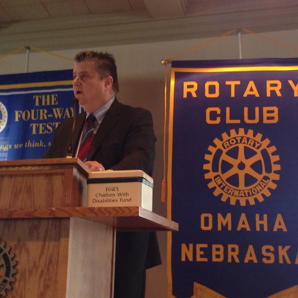 Photo taken at The Rotary Club of Omaha Meetings by Todd M. on 4/24/2013