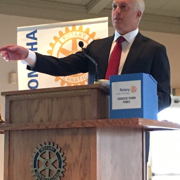Photo taken at The Rotary Club of Omaha Meetings by Todd M. on 4/6/2016
