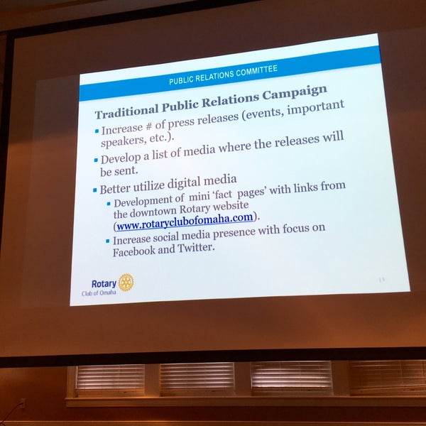Photo taken at The Rotary Club of Omaha Meetings by Todd M. on 7/13/2016