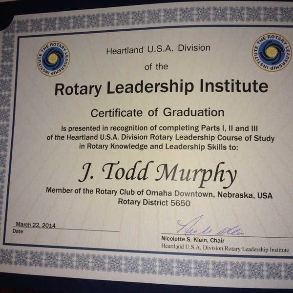 Photo taken at The Rotary Club of Omaha Meetings by Todd M. on 4/23/2014