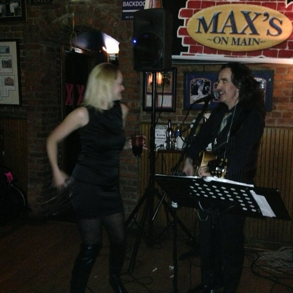 Photo taken at Max's on Main by Marcelle on 2/2/2013