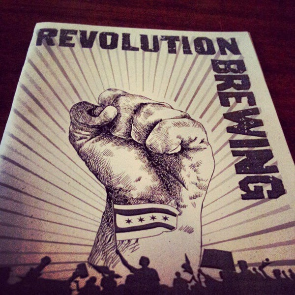 Photo taken at Revolution Brewing by Gabe on 2/4/2013
