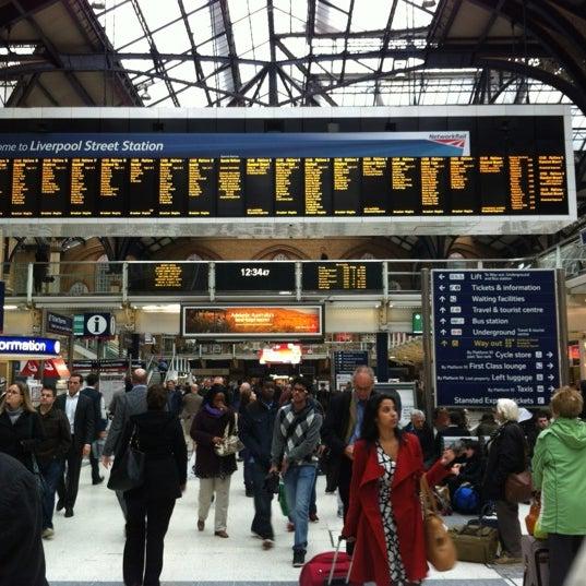 Photo taken at London Liverpool Street Railway Station (LST) by ʌlı on 10/1/2012