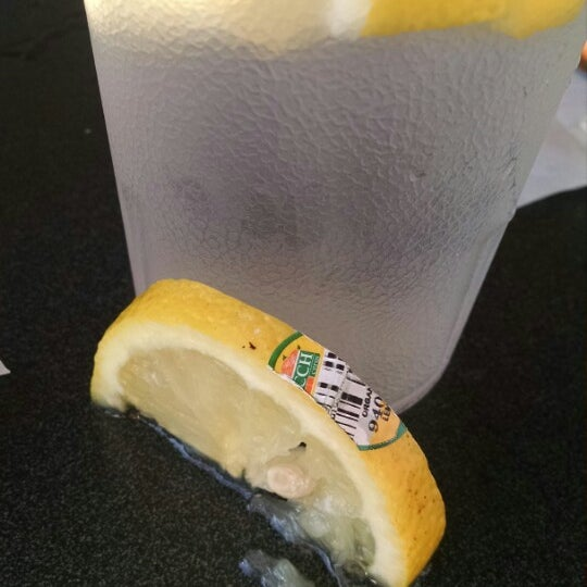 I love waffle house and go to one at least every month. I don't expect 5star service, but the least you can do is take the sticker off the lemon before you put it in my water. Did they even wash it??
