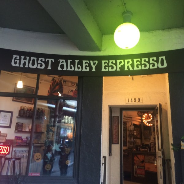 Photo taken at Ghost Alley Espresso by roxanne on 9/9/2014