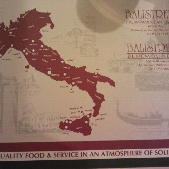 Photo taken at Balistreri's Italian American Ristorante by Tommy on 2/20/2012