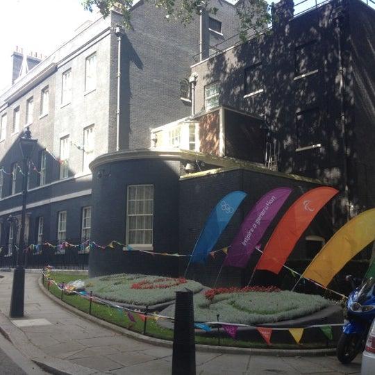 Photo taken at 10 Downing Street by Liz B. on 8/31/2012
