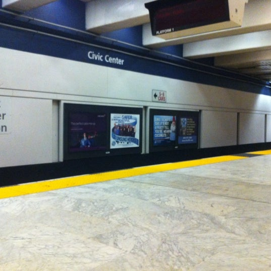 Photo taken at Civic Center/UN Plaza BART Station by Todd O. on 3/29/2012