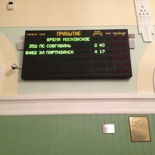 Photo taken at Железнодорожный вокзал Владивостока / Vladivostok Railway Station by 😉Иван С. on 2/28/2012