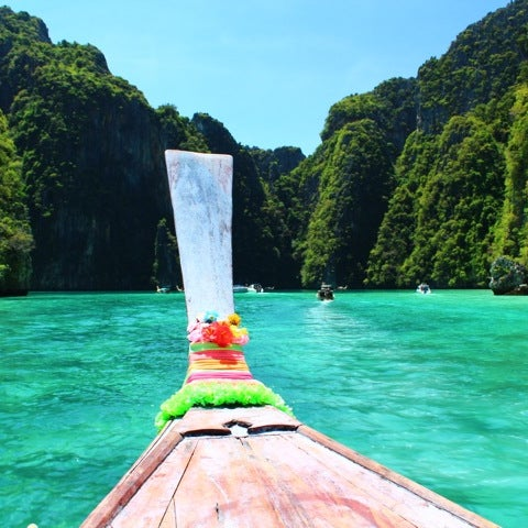 Photo taken at Phi Phi Island by Aphilak L. on 3/8/2012