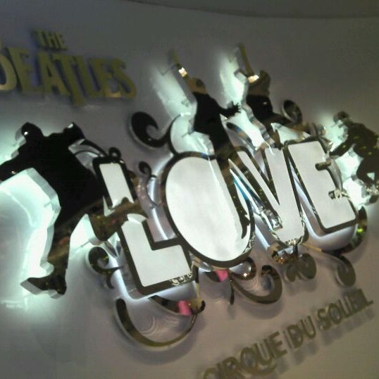 Photo taken at The Beatles LOVE (Cirque Du Soleil) by Bento B. on 3/9/2012