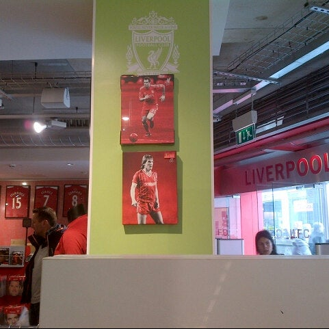 Photo taken at Liverpool FC Official Club Store by Romil D. on 5/3/2013