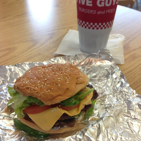 Photo taken at Five Guys by Alex H. on 4/7/2013