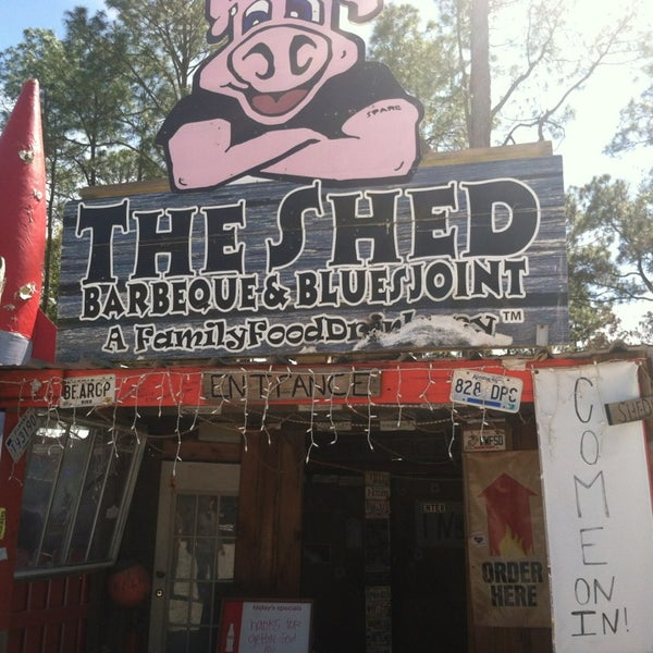 Photo taken at The Shed Barbeque and Blues Joint by Krystle G. on 3/12/2013