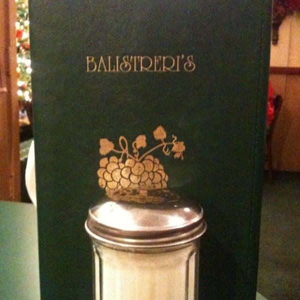 Photo taken at Balistreri's Italian American Ristorante by Jessica L. on 12/20/2012