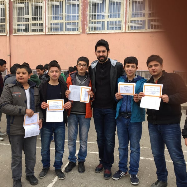 Photo taken at Mustafa Vedat Mutlu Ortaokulu by Ömer Tuncer S. on 1/22/2016