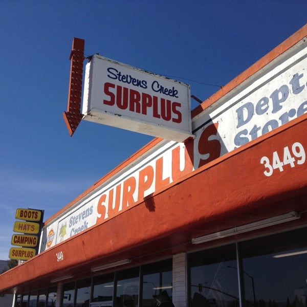 Photo taken at Stevens Creek Surplus by Eric C. on 10/7/2013