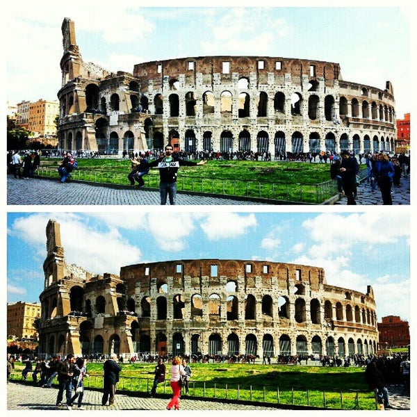 Photo taken at Piazza del Colosseo by Gurjeet S. on 3/5/2013