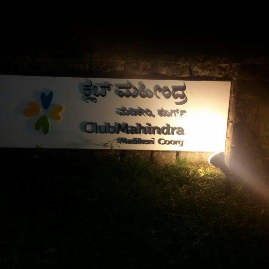 Photo taken at Club Mahindra Madikeri by Sagar M. on 5/15/2014